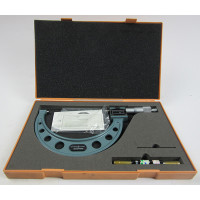 MITUTOYO 193-106 Digit Outside Micrometer, 125-150 mm, .01 mm with case