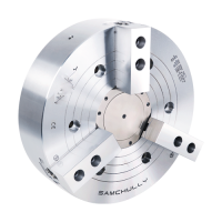 10 IN Brand New Samchully HS-10 Standard 3-Jaw High-Speed Open-Center Chuck