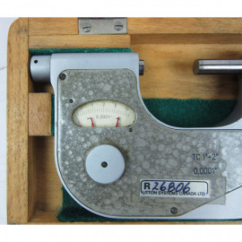 "Micrometer 1"" to 2"" attach with dial indicator"