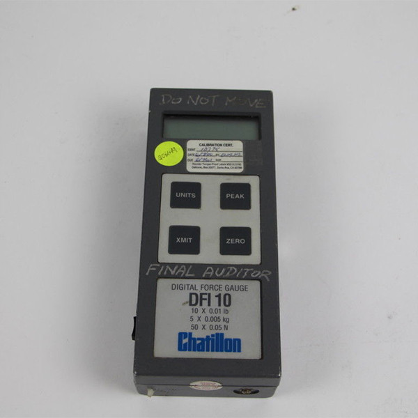 CHATILLON DFI 10 DIGITAL FORCE GAUGE PUSH PULL TESTER 10 LBF X 0.01 LBF