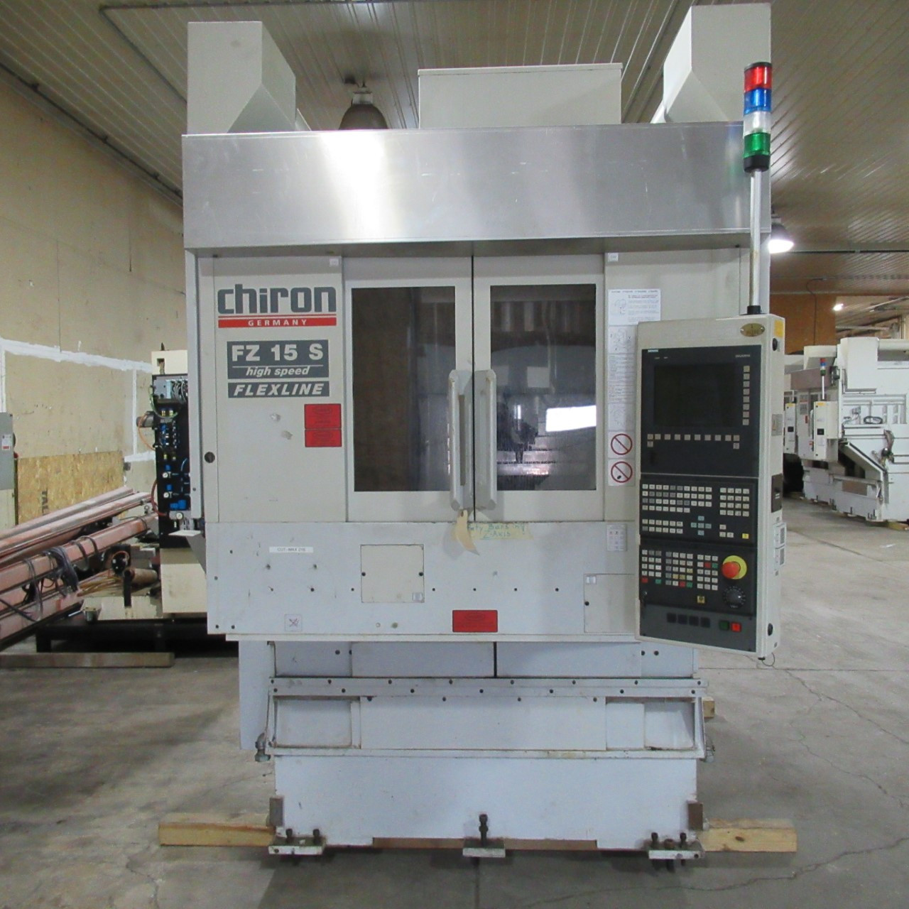 Chiron FZ15S Vertical Machining Center (3 Similar Machines Available)