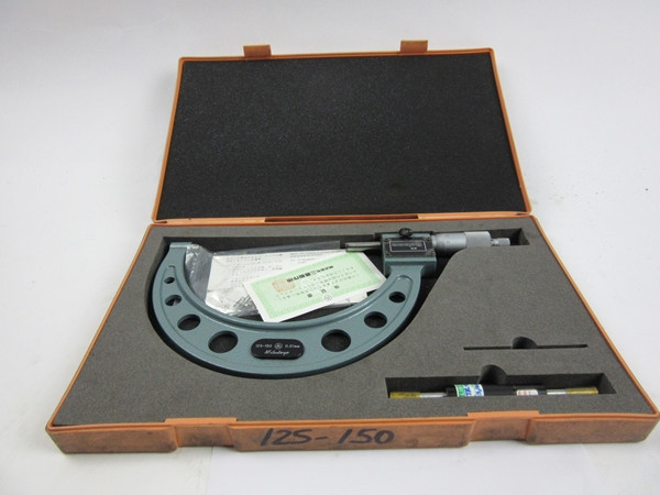MITUTOYO Digit Outside Micrometer, 125-150 mm, .01 mm with case