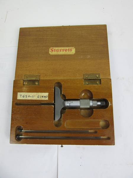Starret depth gage micrometer