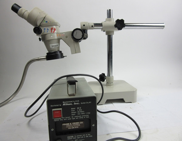 Nikon Microscope with fibre light